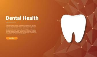 human dental tooth template banner design vector