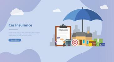 house insurance concept with home and paper contract vector