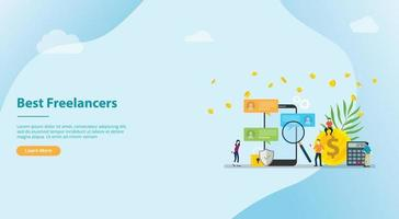 search and find the best freelancer work remote for website template vector