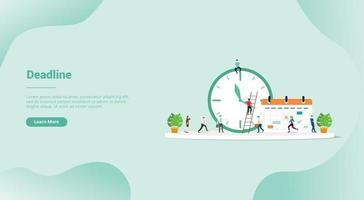 deadline or time schedule for website template or landing homepage vector