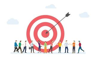 target customer business for marketing with dart and customers people vector