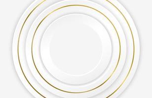 Luxury elegant white background with gold ornament futuristic concept vector