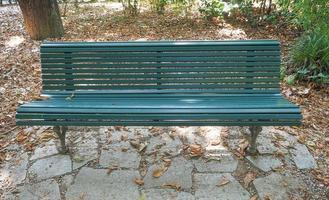 Bench in a park photo