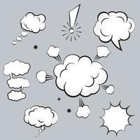 Cloud Comic Book  Design Element Vector