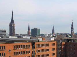 Vista del horizonte de Hamburgo foto