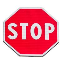señal de stop aislada foto