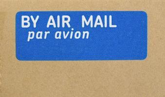 sobre de carta de correo aéreo foto