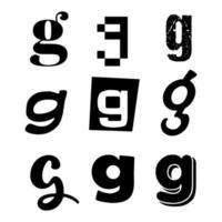 Small Letter G Alphabet Design vector