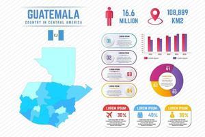 colorida plantilla de infografía de mapa de guatemala vector