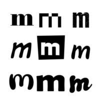 Small Letter M Alphabet Design vector