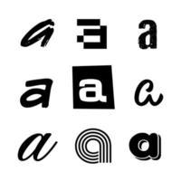 Small Letter A Alphabet Design vector