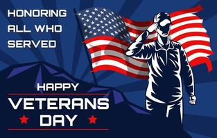 Happy United States Veterans Day Background vector