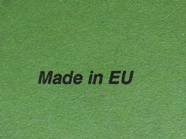 Fabricado en la UE foto