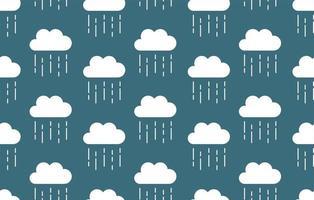 Raindrop seamless pattern. Rainy background. Weather wallpaper. Vector