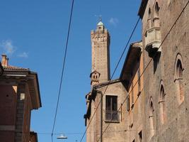 View of old city centre in Bologna photo