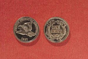 Moneda de 1 centavo, estados unidos foto