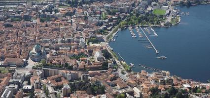 Aerial view of Como photo
