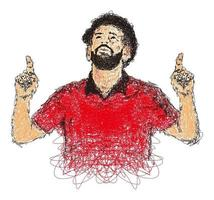 Scribble Art Ball player Illustration Vector Image