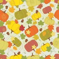 Colorful pumpkin autumn seamless pattern vector
