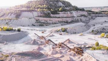 Conveyor system for mining in a limestone quarry. photo
