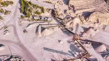 Aerial view of the limestone mining conveyor system. photo