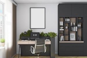 maqueta de marco interior de oficina - 865 foto
