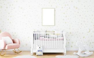 maqueta de habitación de niños, a4, maqueta de marco-1 foto