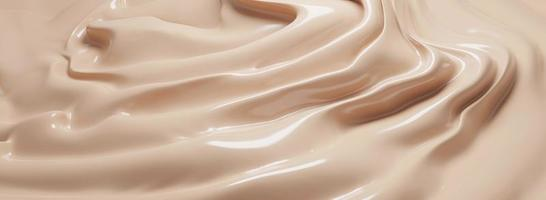 Cosmetic foundation cream texture background 3D render photo