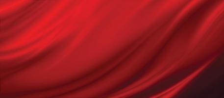 Red fabric texture background 3D illustration photo