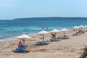 Migjorn beach in Formentera in Spain in Times of Covid 19 photo