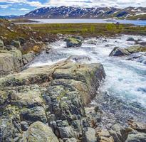 Beautiful Storebottane river, Hemsedal, Norway photo