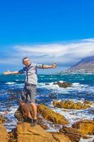 Viajero en la costa de Ciudad del Cabo, Sudáfrica foto