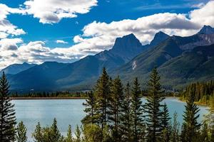 Three sisters overlook shimmering Quarry Lake photo