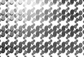 Light Silver, Gray vector template with lava shapes.