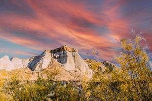 Views on an early morning drive through the badlands photo