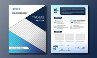 Double side flyer design for corporate advertising and print vector