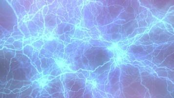 Abstract blurred lilac background with blue lightning bolts. video