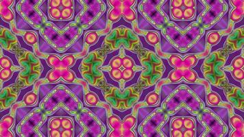 Abstract pink kaleidoscope background with symmetrical pattern. video