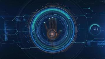 moderne technologie digitale patroon abstracte achtergrond video
