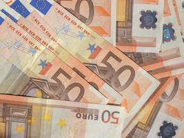 cincuenta billetes de euro foto