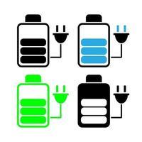 iconos del indicador de carga de la batería vector