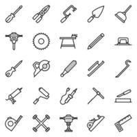 Tools icon set - vector illustration .