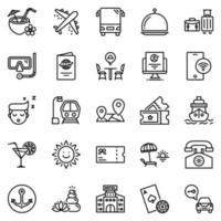 Travel icon set - vector illustration .