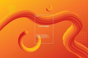 orange liquid background vector illustration