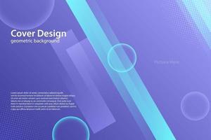 abstract geometric purple background vector illustration