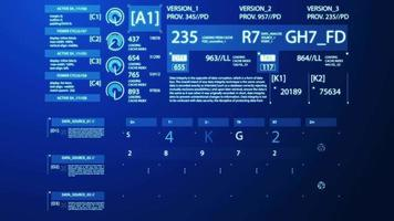 business digitale infografica concetto blu video