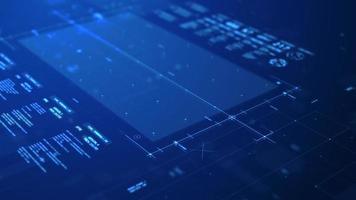 digitalt företag infographic blå koncept video
