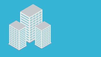 concetto di business infografica inclinata isometrica video