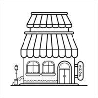 diseño de esquema de edificio de la ciudad para el estilo de libro de dibujo veintidós vector