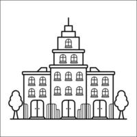 City Building Outline Design for Drawing Book Style sixteen vector
